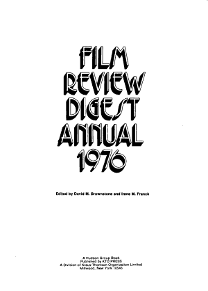 Film Review Digest Annual PDF