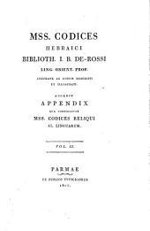 Mss. codices hebraici Biblioth: Volume 2