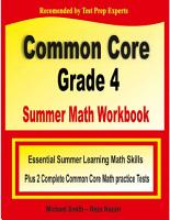 Common Core Grade 4 Summer Math Workbook PDF