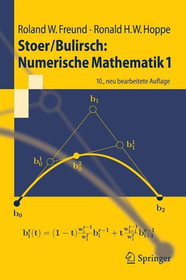 Stoer Bulirsch  Numerische Mathematik 1 PDF