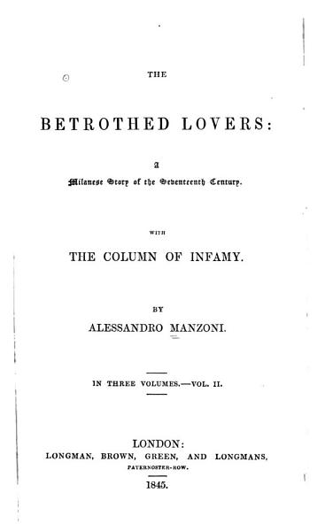 Download The Betrothed Lovers Book
