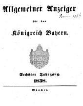 Allgemeiner Anzeiger für das Königreich Bayern: Gerichtliche und polizeyliche Bekanntmachungen, Band 6