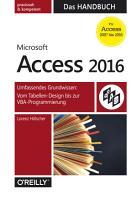 Microsoft Access 2016   Das Handbuch PDF