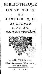 Bibliothèque universelle et historique: Volume18
