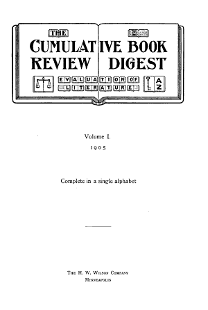 The Cumulative Book Review Digest PDF