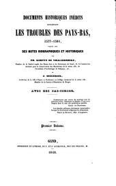 Documents historiques inédits concernant les troubles des Pays-Bas, 1577-1584: Volume1
