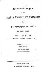 Verhandlungen der Zweiten Kammer der Landstände des Großherzogthums Hessen: 1820,2