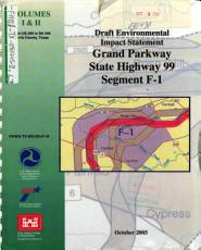 Grand Parkway  State Highway 99  Segment F 1 from US 290 to SH 249 PDF