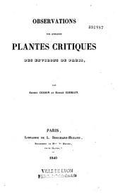 Observations sur quelques plantes critiques des environs de Paris