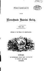 Proceedings of the Massachusetts Historical Society: Volume 9