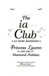 The Tiara Club at Ruby Mansions 5  Princess Lauren and the Diamond Necklace PDF