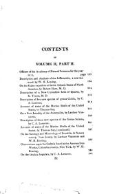 Journal of the Academy of Natural Sciences of Philadelphia: Volume 2