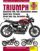 Triumph Bonneville T100  T120  Speedmaster  Bobber  Speed Twin  Thruxton  Street Twin  Cup and Scrambler 900 And 1200   16  19 PDF