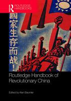 Routledge Handbook of Revolutionary China PDF