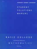 Student Solutions Manual to Accompany Basic College Mathematics PDF