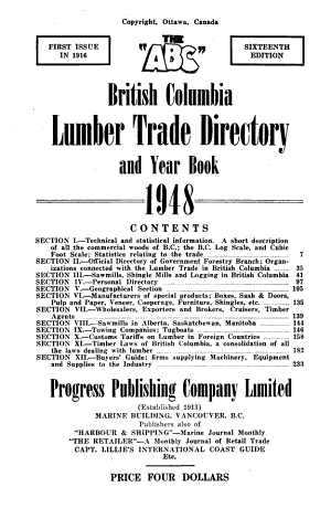 The ABC British Columbia Lumber Trade Directory and Year Book PDF