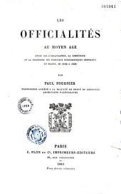 Les officialités au Moyen-Age