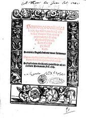 Sermones dominicales de tempore tam hyemales quam estiuales diuini verbi eximij concionatoris Gabrielis biel ... Sermo de fugienda peste per modum questionis latissime patens fol. 144. ..
