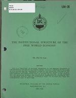The Institutional Structure of the Free World Economy