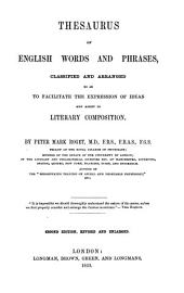 Thesaurus of English Words and Phrases to Facilitate the Expression of Ideas