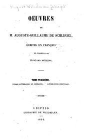 Essai littéraires et critiques, Littérature orientale