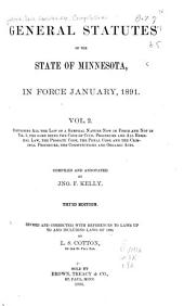 General Statutes of the State of Minnesota in Force January, 1891