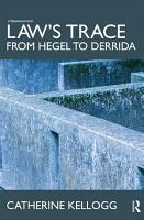 Law s Trace  From Hegel to Derrida PDF