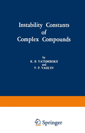 Instability Constants of Complex Compounds