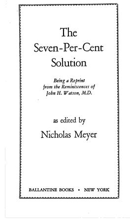 seven per cent solution PDF