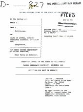 California. Supreme Court. Records and Briefs: S022887, Petition for Writ