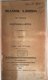 Islandsk laesebog: med tilhørende ordforklaring