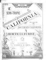 Semi-tropic California and Southern California Horticulturist