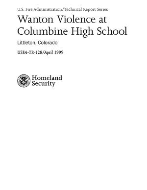 Wanton Violence at Columbine High School  Littleton  Colorado