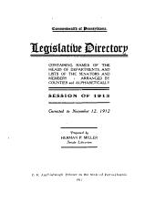 Commonwealth of Pennsylvania: Legislative Directory, [House of Representatives]