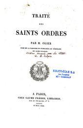 Traité des Saints Ordres