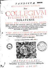 Pandectarum seu digestorum juris civilis, commentariis