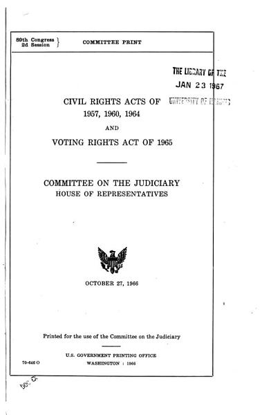 Civil Rights Acts of 1957  1960  1964 PDF
