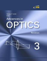 Advances in Optics  Vol  3 PDF