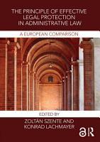 The Principle of Effective Legal Protection in Administrative Law PDF