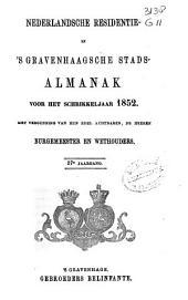 Nederlandsche residentie- en 's Gravenhaagsche stads-almanak voor ....: Volume 7