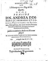 Disputatio Ad 1. Princeps XXXI. Dig., de LL