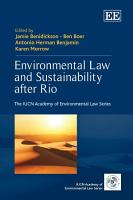 Environmental Law and Sustainability after Rio PDF