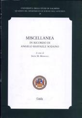 Miscellanea in ricordo di Angelo Raffaele Sodano