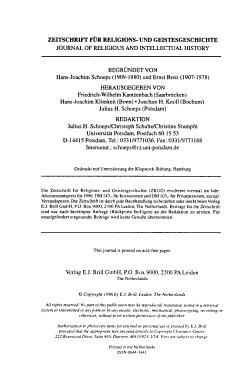 Zeitschrift f  r Religions  und Geistesgeschichte PDF