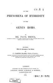 On the Phenomena of Hybridity in the Genus Homo