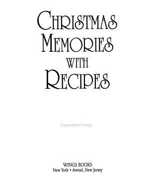 Christmas Memories with Recipes PDF