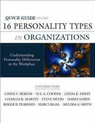 Quick Guide To The 16 Personality Types In Organizations Book PDF