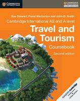 Cambridge International AS and A Level Travel and Tourism Coursebook PDF
