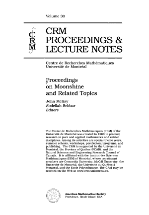CRM Proceedings   Lecture Notes PDF