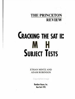 Cracking the SAT II Book